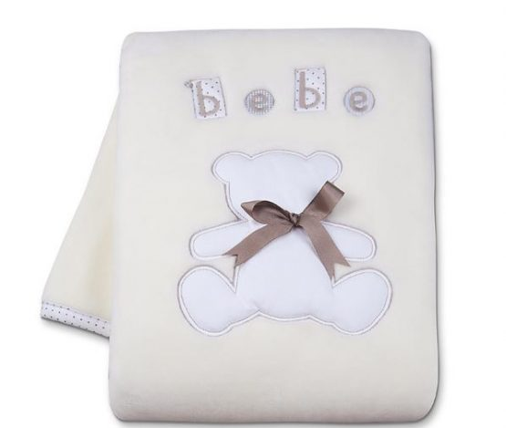 COUVERTURE BELINO OURS BEIGE