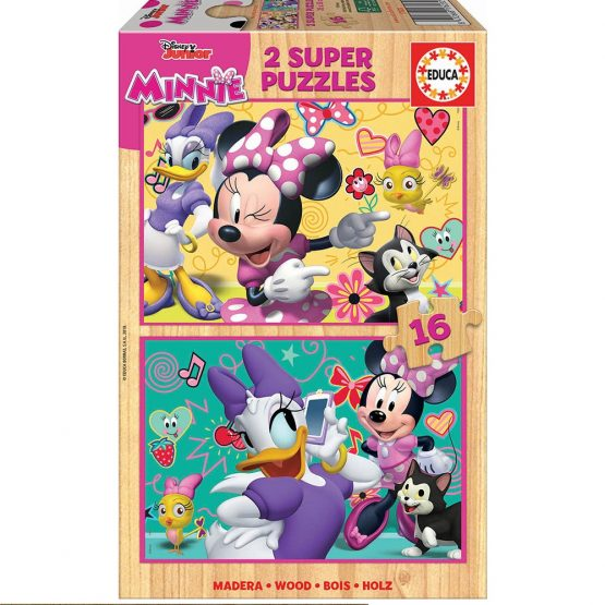 Puzzles en bois Minnie 2*16