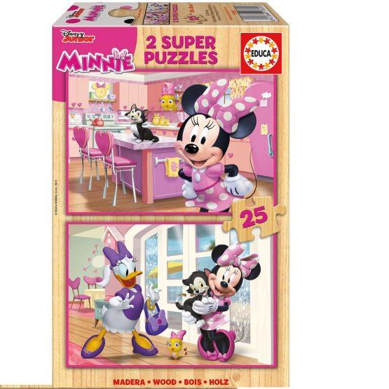 Puzzle en Bois Minnie  2 x 25