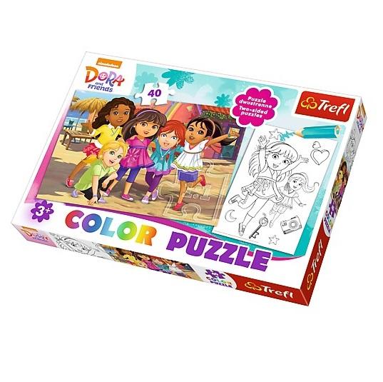 Puzzle couleur Dora 40 pièces