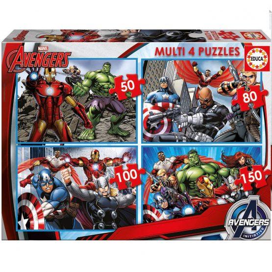 Puzzle Classique – Multi 4 En 1 – The Avengers