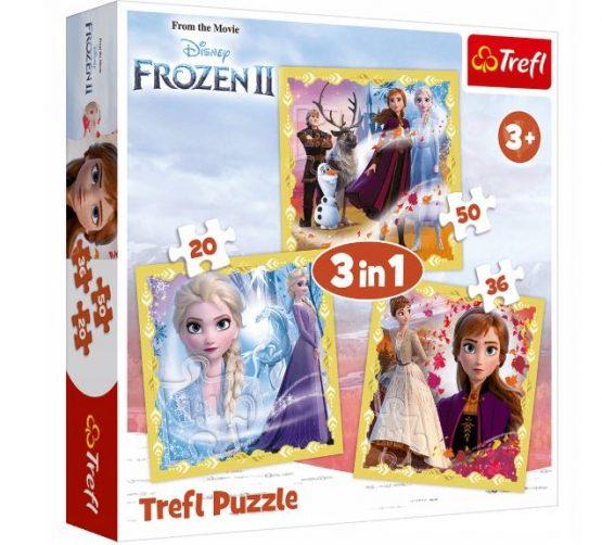 Puzzles 3 en 1 frozen