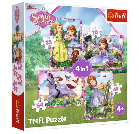 Puzzles 4 en 1 Sofia