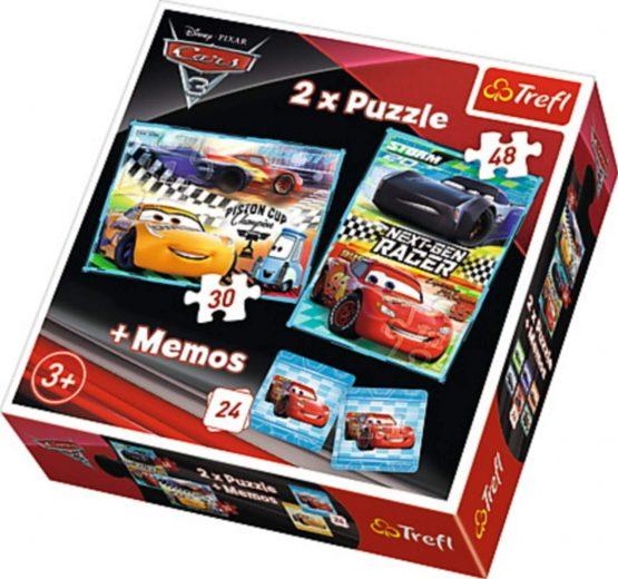 Puzzle 2en1  et Mémos Cars 3
