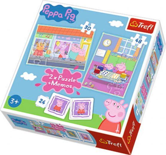 2 Puzzles + Memo Peppa Pig