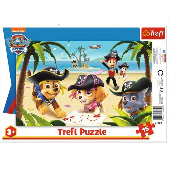 Puzzle cadre 15 Paw Patrol Pirates