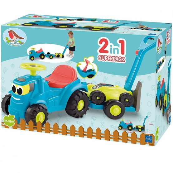 Tracteur + remorque + Tondeuse