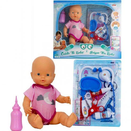 Poupée bébé mouilleur + accessoire docteur