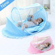 Moustiquaire-de-lit-de-nouveau-n-Portable-avec-oreiller-de-coussin-moustiquaire-solide-bleue-pour-berceau (1)