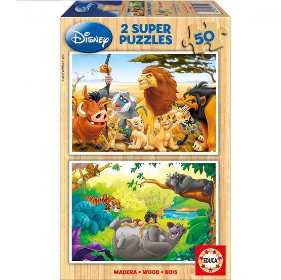 Puzzle Bois  2X50 pièces – Animal Friends
