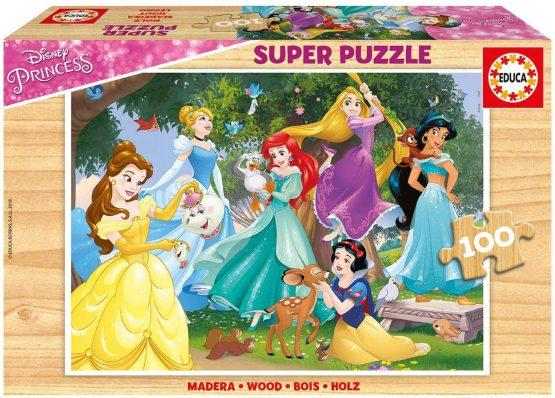 PUZZLE BOIS 100PCS princesse