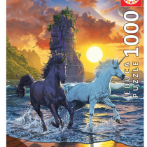 educa-licornes-sur-la-plage-puzzle-de-1000-pieces