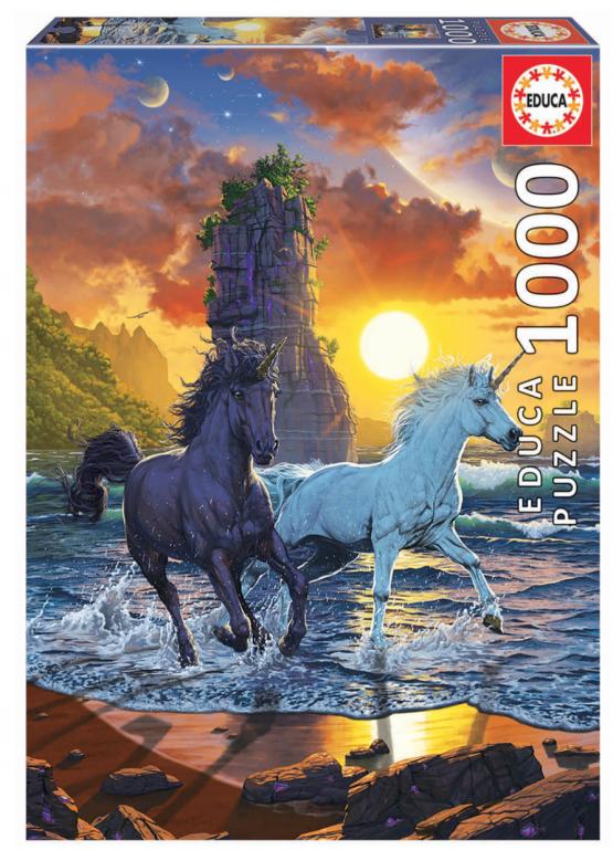 Licornes sur la plage – puzzle de 1000 pièces